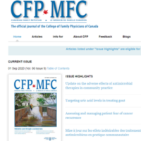 Link to article on Canadian Family Physician Blog