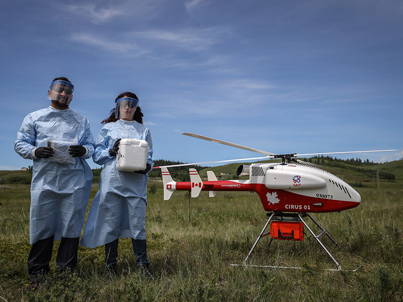 Researchers investigate drone delivery of medical supplies to remote communities during pandemic