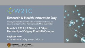 W21C Research Health Innovation Day 2019